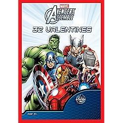 Paper Magic 32CT Showcase Avengers Assemble Kids Classroom Valentine Exchange Cards