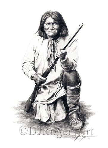Amazoncom Geronimo Pencil Drawing American Indian Art