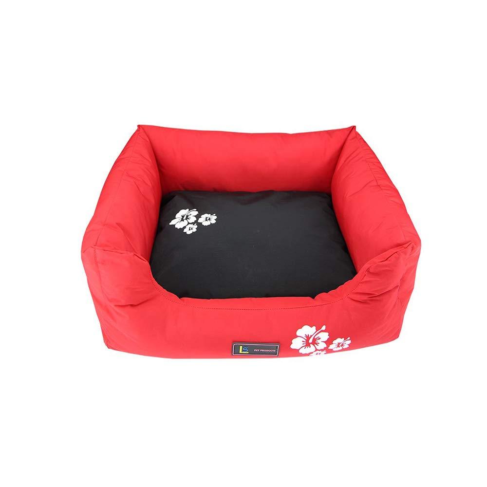 YNZYOG Nido di Gatto Cuccia Canile Cuscinetto Imbottito Capelli Nonstick Nylon Cotone PP Impermeabile (colore   Red, Dimensioni   XXL)