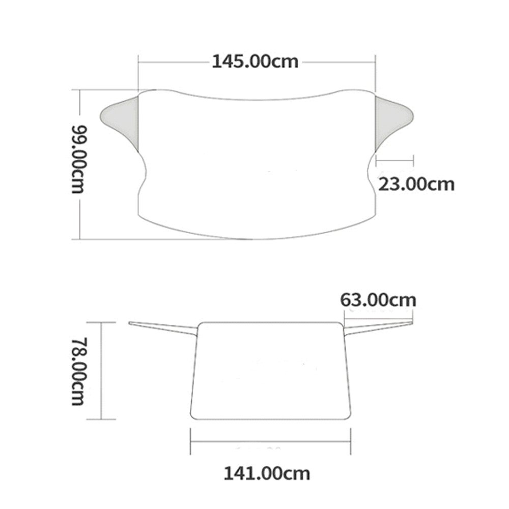 contre le vent compatible avec la plupart des v/éhicules le soleil ou la neige Housse de protection pour pare-brise doublure en aluminium lamin/é pour prot/éger contre la gr/êle