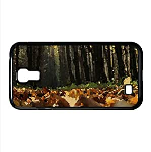 Ground Leafage Watercolor style Cover Samsung Galaxy S4 I9500 Case (Autumn Watercolor style Cover Samsung Galaxy S4 I9500 Case)