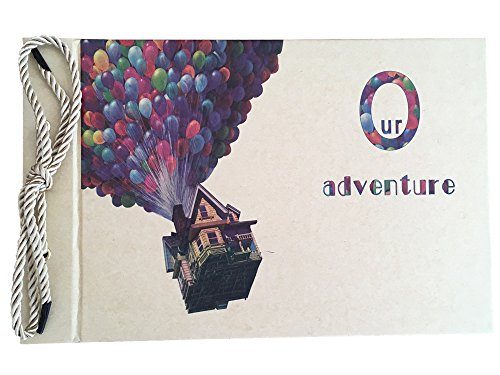 Linkedwin Our Adventure Book DIY Scrapbook with Balloon House Cover