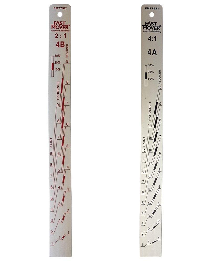 Fast Mover Tools, Alluminio Vernice miscelazione Stick 2: 1 e 4: 1 Alluminio Vernice miscelazione Stick 2: 1e 4: 1 FMT7921