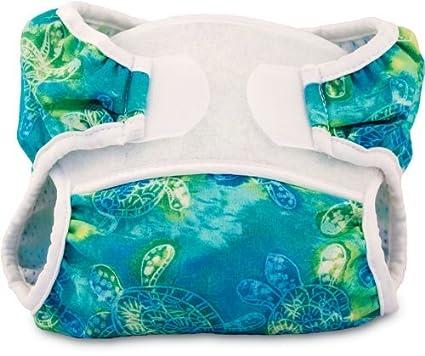 Bummis swimmi Pañales de tela, tortugas, grande (22 – 30 libras) Color