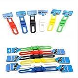 Liroyal Cycling Bike Bicycle Silicone Band Flash Light Flashlight Phone Strap Tie Ribbon Mount Holder(Pack of 5)
