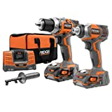 ridgid x4 drill - Ridgid ZRR9600 X4 Hyper 18V Cordless Lithium-Ion 1/2 in. Drill Driver and Impact Driver Combo Kit (Certified Refurbished)