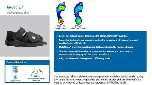 Darco Med-Surg Post Operative Shoe-Men Large Black