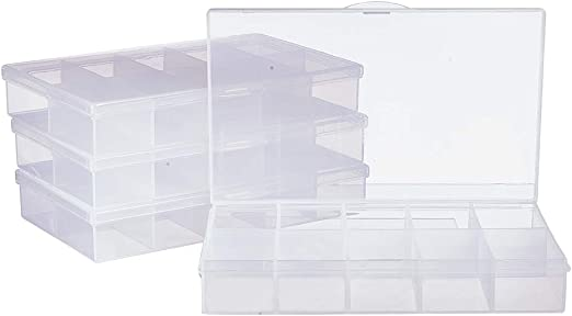Plastic 12 Compartment Storage Sorting Tray for Jewelry Beads /& Findings