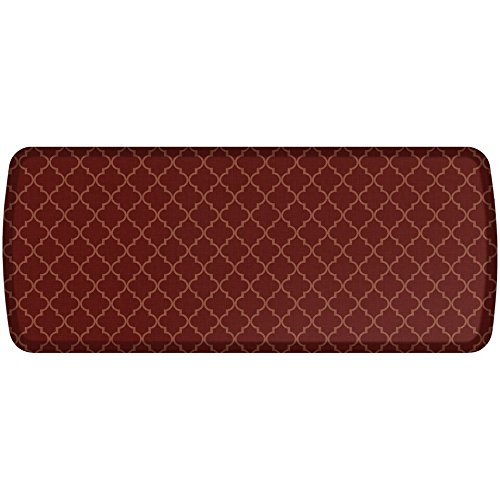 GelPro Elite Premier Anti-Fatigue Kitchen Comfort Floor Mat, 20x48'', Lattice Garnet Stain Resistant Surface with therapeutic gel and energy-return foam for health & wellness