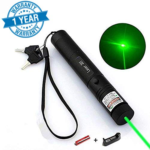 Oukey Tactical Green Hunting Rifle Scope Sight Laser Pen, Demo Remote Pen Pointer Projector Travel Outdoor Flashlight, LED Interactive Baton Funny Laser Toy