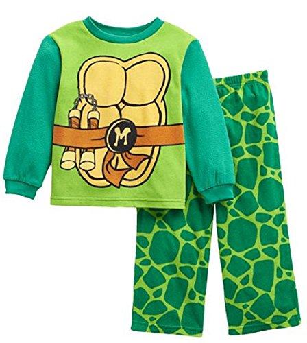 Teenage Mutant Ninja Turtle Michael Angelo 2 Pc Fleece Pajama Set 2t
