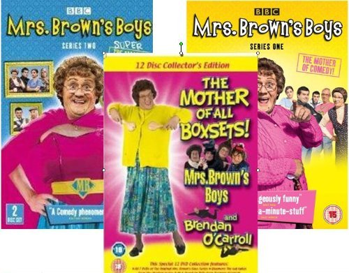 Price comparison product image MRS BROWN'S BOYS COMPLETE 16 DVD COLLECTION SET - RTE SERIES PARTS 1 - 8 & BBC SERIES 1 & 2 & BRENDAN O'CARROLL THE STAND UP COLLECTION THE MOTHER OF ALL BOX SETS (Region 2 encoding (This DVD will not play on most DVD players sold in the US or Canada [Region 1]. This item requires a region specific or multi-region DVD player and compatible TV.)