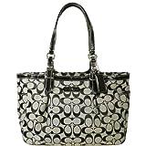 Coach Signature Gallery East West Shopper Bag Purse Tote 16561 Black White, Bags Central