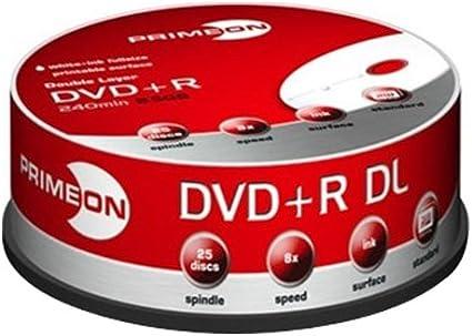 Primeon Dvd R Double Layer 8x Dvd Rohlinge 240min Computer Zubehör