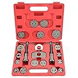 21 Piece Tool Kit Car/Truck Disc Brake Caliper Rewind Wind Back Auto Tool Set Kit for Piston Pad Disc Brake Car Truck Mechanics