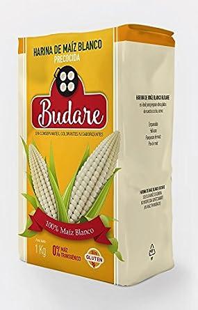Harina BUDARE de 100% Maíz Blanco precocida: Amazon.es: Alimentación y bebidas