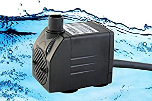 Tiger Pumps 120GPH Submersible Water Pump, Pond Pump, Aquarium Pump, Fish Tank Pump, Fountain Pump With 120 GPH Pump Excellent Powerheads For Aquariums Hydroponics Air Pump With 5 Feet Power Cord