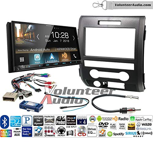 Volunteer Audio Kenwood Excelon Ddx8905s Double Din Radio Install Kit With Apple Carplay Android Auto Bluetooth Touchscreen Fits 2009 2014 F 150