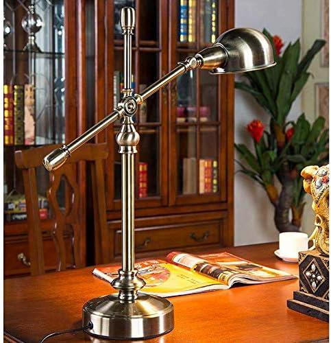 ZGQA-Desk Lamps Table Lamp Bedroom Bedside Lamp Republic of China Desk Study Room Living Room Retro Industrial Wind Metal Nostalgic Country Lamps Desk Lamps