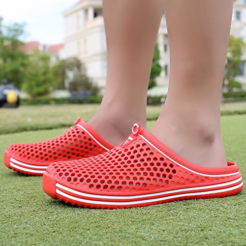 Slippers Mens Garden Quick Red Beach Mesh Womens Sandals Shoes Clogs Drying rttwgq0Fx