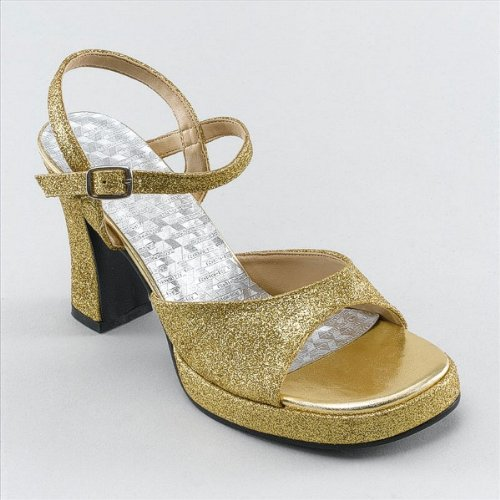 Small 70's Gold Ladies Disco Shoes