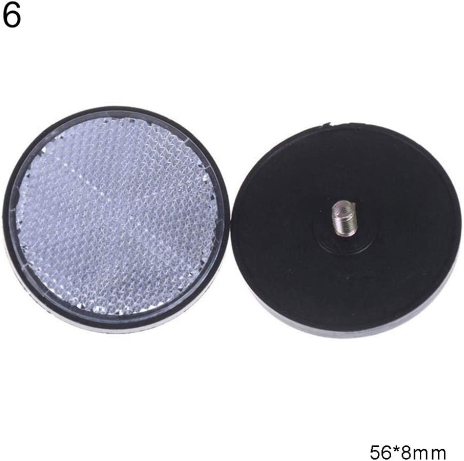 Difcuy 2Pcs Rectangular Round Car Motorcycle Electric Vehicle Plastic Lattice Reflector Reflector Safety Reflector