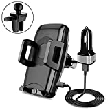 Miracase Wireless Car Charger, Car Mount Charger with Air Vent Phone Holder, Fast Charging 10W for Samsung Galaxy S8, 7.5W for iPhone X/8/8 Plus (USB Car Charger Included)