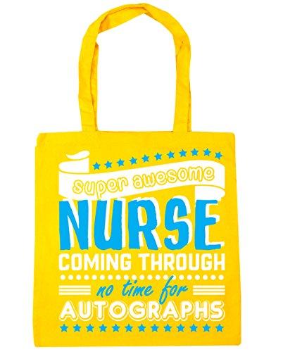 No HippoWarehouse x38cm Nurse For 42cm Time Awesome Gym Tote Yellow Coming Super Through 10 Autographs Shopping litres Beach Bag nrfxXqrA