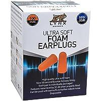 Lynx Ultra Soft Foam Earplugs, [100 Pairs], 32dB Highest...