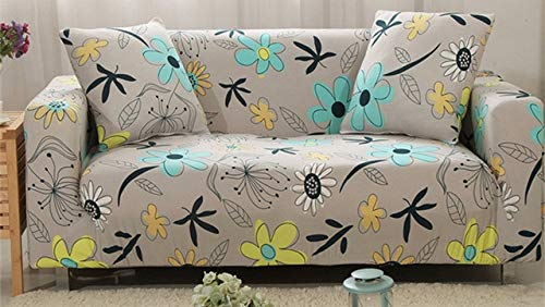 All-Inclusive Slipcovers Sofa Tight Wrap Anti-Slip Elastic Full Sofa Cover with 2pcs Cushion Covers 1 2 3 4-Seater Couch Cover   C, 2 Seats