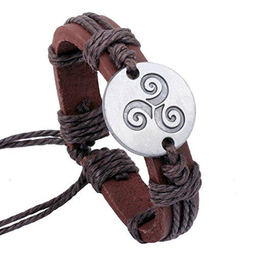 Desklets Boys / Girls Handmade Vintage Braided Leather Wax Rope Elegant Alloy Charm Bracelets(Seal3) (Jack Titanic Costume)