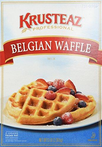 Krusteaz Belgian Waffle Mix - 5 Pound Foodservice Bag by Krusteaz
