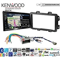 Volunteer Audio Kenwood DNX574S Double Din Radio Install Kit with GPS Navigation Apple CarPlay Android Auto Fits 2013-2014 Honda Civic (With Factory Nav)