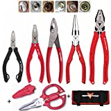 VAMPLIERS. Best Made Pliers! 6-PC Set S6AP Patented Screw Extractions Pliers. Extract Stripped Stuck Security, Corroded or Rusted Screws/Nuts/Bolts + Super Combo Scissors and Free Tool Pouch