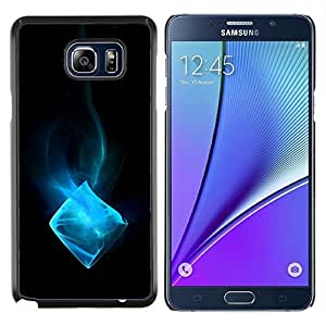 YiPhone /// Prima de resorte delgada de la cubierta del caso de Shell Armor - Blue Ice Cube - Samsung Galaxy Note 5 5th N9200