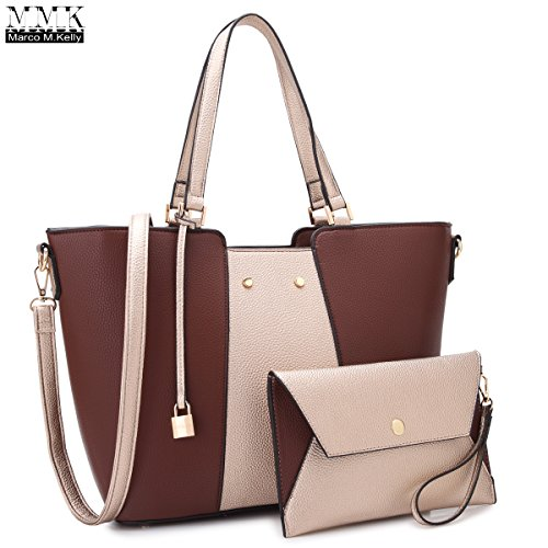 MMK collection Fashion Women Purses and Handbags Ladies Designer Satchel Tote Bag Shoulder Bags and coin purse(7608-CF/GD)