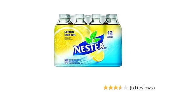 Amazon.com : NESTEA Iced Tea, Lemon 16.9-ounce plastic bottles, 12 Count : Bottled Iced Tea Drinks : Grocery & Gourmet Food