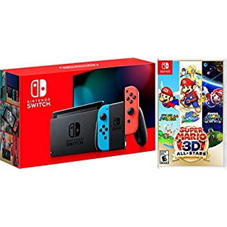 Nintendo Switch 32GB Console Neon with Super Mario 3D All Stars Bundle