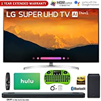 LG 65 4K HDR Smart AI Super UHD TV (2018 Model) with Bonus Hi-Res Soundbar + $100 Hulu Card + Wireless Remote Keyboard + 1 Year Extended Warranty Bundle and More - 65SK9000