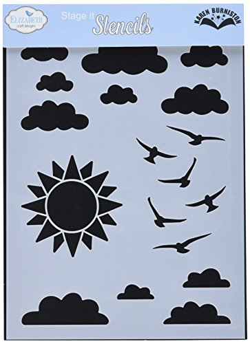 Elizabeth Craft Designs S005 N/A Stencil 5''X7''-Partly Cloudy by Elizabeth Craft Designs