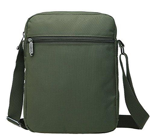 Genda 2Archer Paño de Nylon Durable Bolsa de Mensajero Bolsa Tracolla (23 cm * 10 cm * 29 cm) (Verde) (Verde) Verde