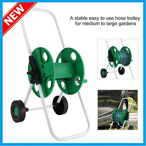 J&T Hose Reel Mobile Rolling Cart Storage Holder Outdoor Garden Water Pipe, 150 ft. by J&T Jordan (Image #4)