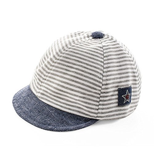 Jewby Newborn Handmade Hat, Cotton Soft Cap For Babies 3-12 Months (Light Grey)