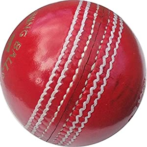 AS Super County Leather Cricket Ball, Red