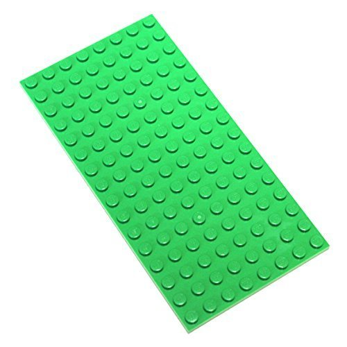 Lego Parts and Pieces: Bright Green 8x16 Plate x2