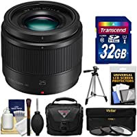 Panasonic Lumix G X 25mm f/1.7 ASPH Lens with 32GB Card + Case + Tripod + 3 UV/CPL/ND8 Filters + Kit