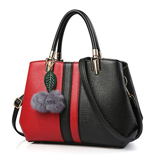 Red Combinado Wild White black Viajero Hombro For Mujer Mixto Manija Color Satchel black color Reducido Lady Bolso Superior Casual Ladies Viaje De Regalos red 487Bq