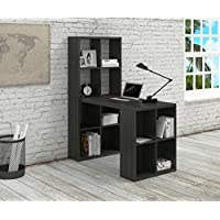 Argo Furniture Norton Writing Desk with Hutch, Black