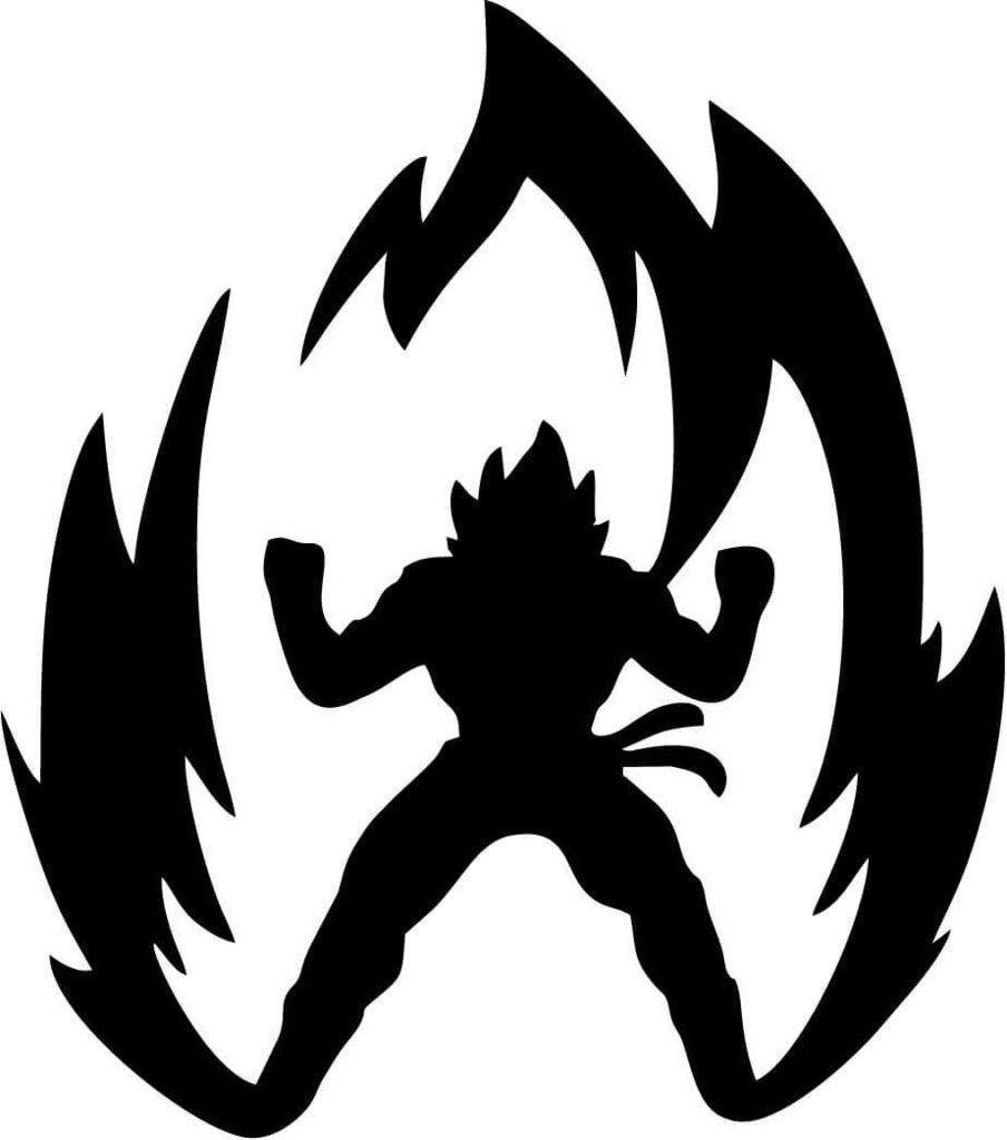 DBZ Dragon Ball Z Power Up Super Saiyan Goku, White, 16 Inch, Die Cut Vinyl Decal, For Windows, Cars, Trucks, Toolbox, Laptops, Macbook-virtually Any Hard Smooth Surface by LCK Unique Design (Image #1)