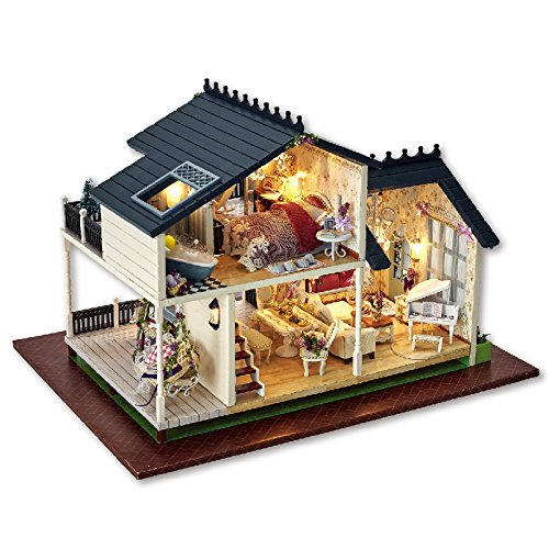 Dreams Assembling DIY Miniature Dollhouse Kit Perfect Gift for Valentine's Day-Provence Lavender Garden